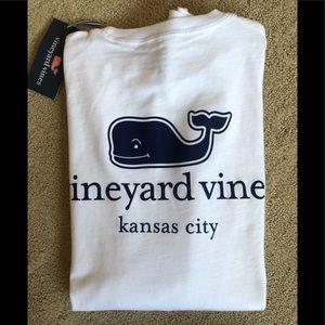 Vineyard Vines White Kansas City Whale Shirt XS
